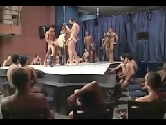 Brazilian blonde gang bang