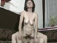 Hairy Saggy Granny Fucks A Young Cock !