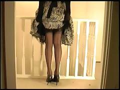 Black Thong Nylon Stockings