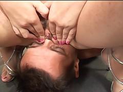 Latin girl facesits her sub 1