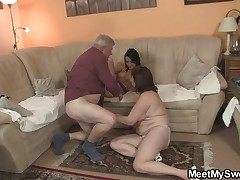 Nasty girl fucking with will not hear of BF old parents