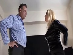 Domme in Stockings Office Corruptness