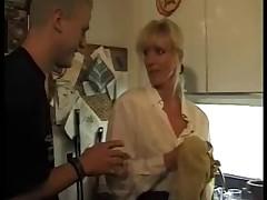 Blonde German MILF enjoys fresh meat