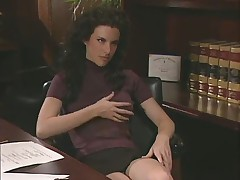 Lesbian Threesome in Office