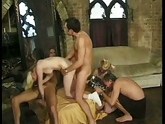 Blonde Twins Anal and Cumshot