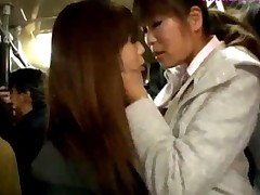 Schoolgirl Kissing With Girl Giving Blowjob Jerking Business..