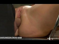 Doctor Gives Anal Sex With Cumshot On Bondage Blonde
