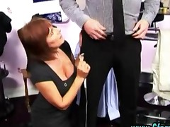Cfnm Femdom Slut Gives Handjob