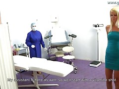 Girl Gets Injection Before Gyno Exam