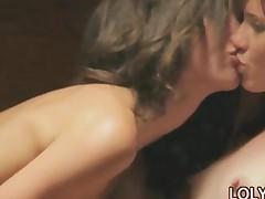 Lesbian Babe Licking In The Sauna