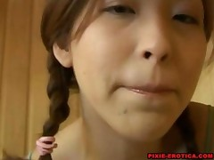 Asian Teen Masterbates In A Sauna