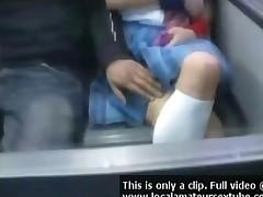 Big Boob Asian Girl On Train