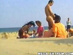 Swinger Outdoor Beach Gang-Bang ! Public Sex! Part Ii