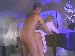 Fucking hot blonde in piano