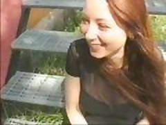 Swedish redhead tease in public and fuck