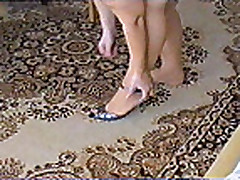 Wife pose in pantyhose