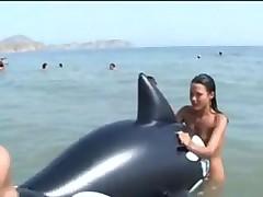 Teens nude at Nudist beach