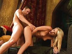 Agile couple having hot sex
