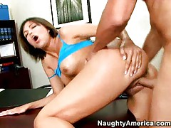 Young babe nailed in office