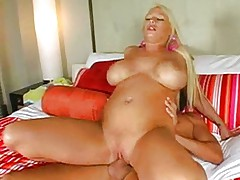 Blondes big tits and big clit fucked
