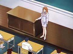 Anime school sex gorgeous teacher got fucked