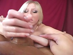 Pierced blonde babe smothers cock with her ass