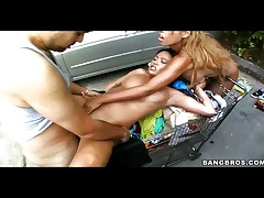 Three Latinas banged