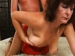 Mature fucked in her wet hairy box