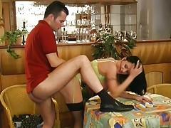 Naughty Carmen wants sex in bar