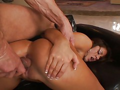 Brunette chick wants to ride cock