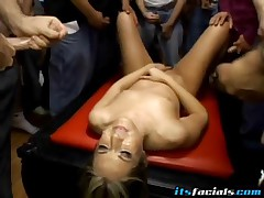 Chelsie Rae - Chelsie Rae Engaged On Nasty Bukkake Facial Session