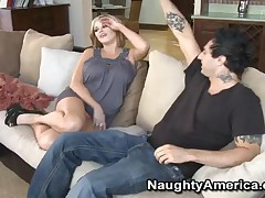 Katie Kox - My Sisters Hot Friend - Hot Katie With Pierced Nipples Takes A Big Cock