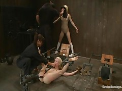 Ashley Jane And Princess Donna Dolore And Ally Ann - Device Bondage
