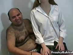 Slutty Girl Gets Ready To Suck Of 20 Men Their Cocks For Their Cum By FreakyBukkake