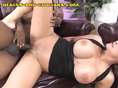 MILF Babe Jerks Hung Black And Gets Facial