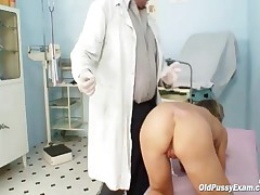 Vladimira - Mature Vladirima Gets Pussy Checked On Gynochair