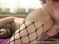 Honami Takasaka - Honami Takasaka Real Asian Dolls In Fishnets Enjoy Butt Fuck Intercourse 2 By AssN