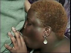 Fat Ebony Tramp Enjoys Tittie Fuck