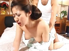 Busty Asian Getting Hairy Beaver Hammered