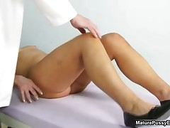 Old Doctor Inspecting A Hairy Mature Mom Her Wet Pussy By MaturePussyExams