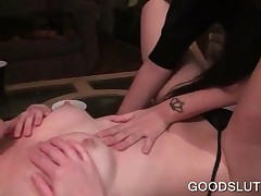 Bisexual Bitches Making Out Share Sexy Dude