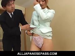 Asumi Mizuno - Japanese Teen Asumi Mizuno Comes To The Bridal Rehearsal In A Blue Dress And She Catc