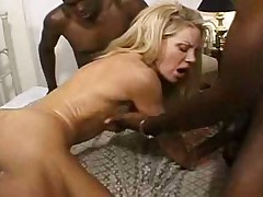 Bridgette Kerkove interracial DP gangbang