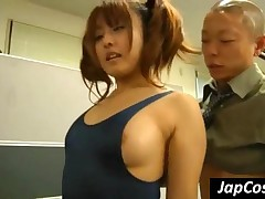 Lustful Japan Minx Gets Fucked Doggie In Threesome