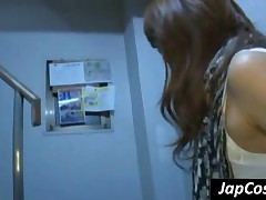 Beauty Redhead Japanese Girl Humiliating A Skinny Dude