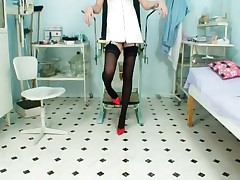 Adriana - Nurse Adriana Stretching Pussy Wide With A Speculum