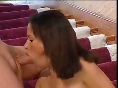 Hairy Brunette Slamming on Hefty Meatstick