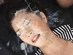 Super messy Japanese bukkake! Must watch.