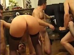 French Mature GangBang