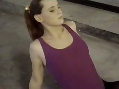 Young sport girl do hardcore